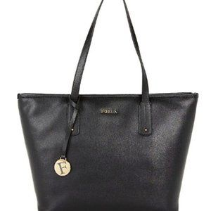 FURLA Black Onyx Saffiano Leather Tote Nwt